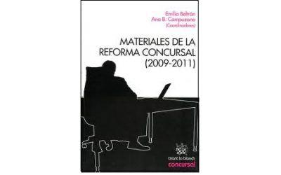 LIBRO: Materiales de la reforma concursal (2009-2011)