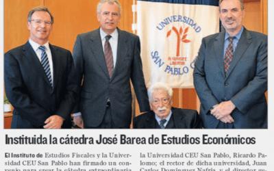 Ricardo Palomo codirigirá la Cátedra José Barea del IEF del Ministerio de Hacienda