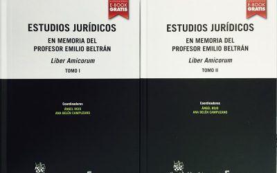 LIBRO: Estudios jurídicos en memoria del Profesor Emilio Beltrán, Liber Amicorum