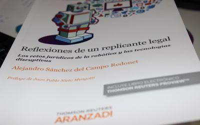 """Dictum Abogados asiste a la presentación del libro """"Reflexiones de un replicante legal. Los retos jurídicos de la robótica y las tecnologías disruptivas""""."""