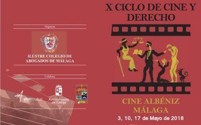 El Ciclo de Cine y Derecho del Colegio de Abogados de Málaga cumple diez años