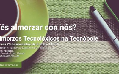 """El socio Juan Carlos Rodríguez Maseda pone el broche a los """"Desayunos tecnológicos"""" de Tecnópole con blockchain, descentralización e identidad digital"""
