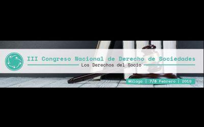 El socio Antonio Caba, ponente del III Congreso Nacional de Derecho de Sociedades