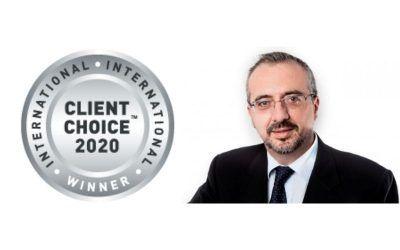 """El socio de Dictum Antonio Caba, galardonado con el """"Client Choice 2020"""""""