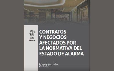"""El socio de Dictum Antonio Caba colabora en la obra """"Contratos y negocios afectados por la normativa del estado de alarma"""""""