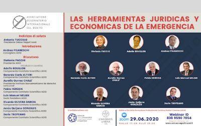 """Aurelio Gurrea Chalé participa en el encuentro """"Las herramientas jurídicas y económicas de la emergencia"""", organizado por el Observatorio Internacional de la Deuda"""