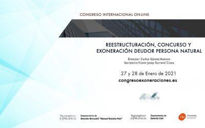 Ana Belén Campuzano y Cecilio Molina participan en el Congreso Internacional Online Reestructuración, Concurso y Exoneración del Deudor Personal Natural