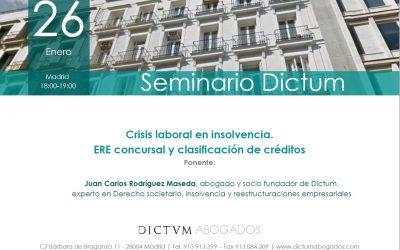 El socio Juan Carlos Rodríguez Maseda inaugura los Seminarios Dictum de 2021