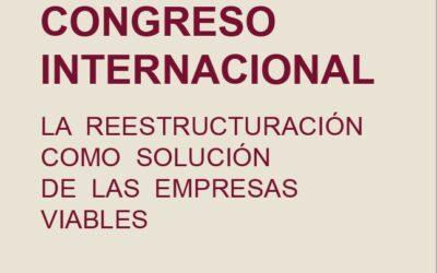 El consejero  Cecilio Molina, ponente del Congreso Internacional «La reestructuración como solución de las empresas viables»