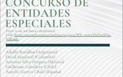 Aurelio Gurrea Chalé participa en el webinar «Concurso de entidades especiales» del Instituto Iberoamericano de Derecho Concursal